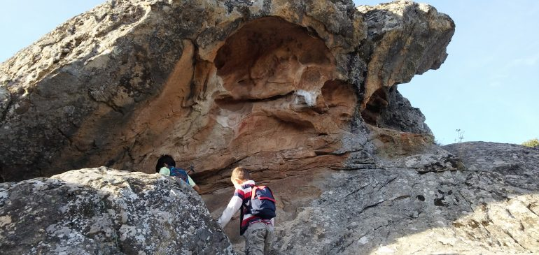 16th October 2016. Hiking and geo-tour to the Taffonis at Peñas de Cabrera (Casabermeja)