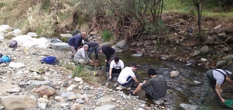 9 de Abril 2017. Bateo en río Real (Marbella-Ojén) Aula museo geología