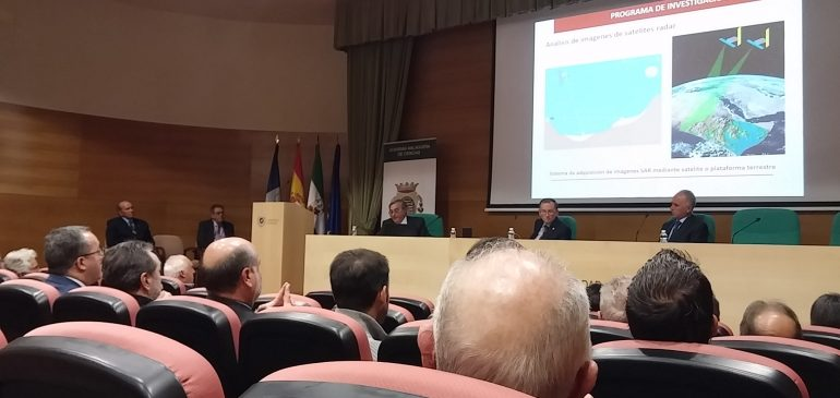 11 de Enero 2018. Ingreso Academia Malagueña de Ciencias del hidrogeólogo Francisco Carrasco Cantos. Aula museo de geologia (Málaga)