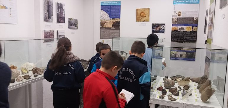 25 de Enero 2018. Visita alumnos CEIP Ardira al Aula museo de geologia (Málaga)