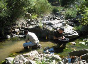 Bateo y prospección geológica en ríos. Investigación amateur. Valle del Genal