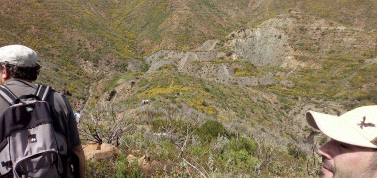 22 de Abril 2018. Paisaje minero Majar del Hinojo-El Lentisco (Ojén) Aula museo de geologia (Málaga)