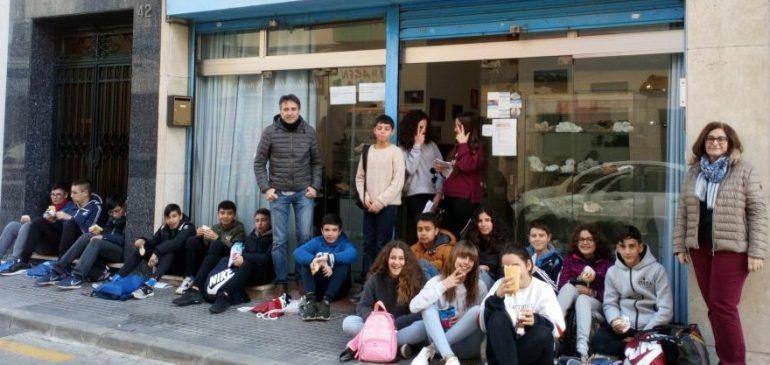 7 de Febrero 2019. Visita alumnos IES Litoral al Aula museo de geología Málaga