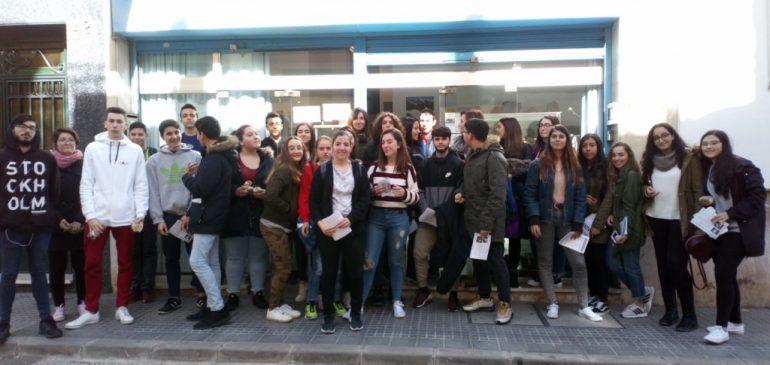24 de Enero 2019. Visita conjunta IES Miraflores de los Angeles y Jardines de Puerta Oscura al Aula museo de geología Málaga