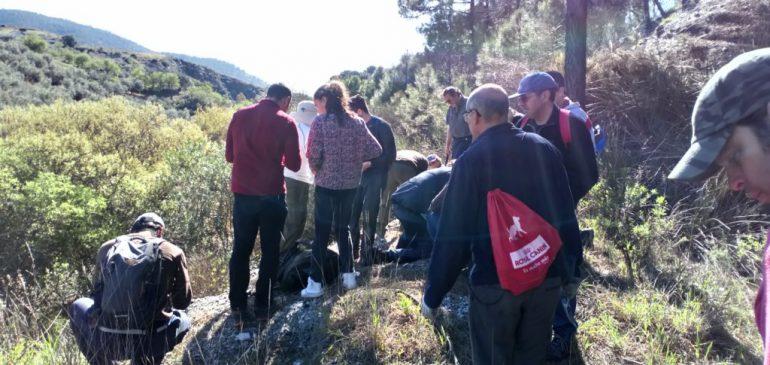10 de Marzo 2019. Visita reivindicativa a los Jarales-Cerro Minas (Carratraca). Aula museo de geología Málaga
