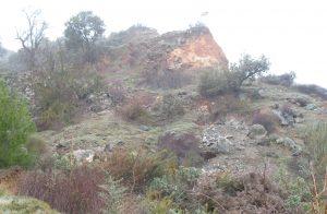 Cantera de rocas subvolcánicas verdes tipo ofitas