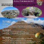 15,16 y 17 de MARZO 2017. I Ciclo de Encuentros Geológicos. Salón de Actos Junta Municipal de Distrito nº4 Bailén-Miraflores