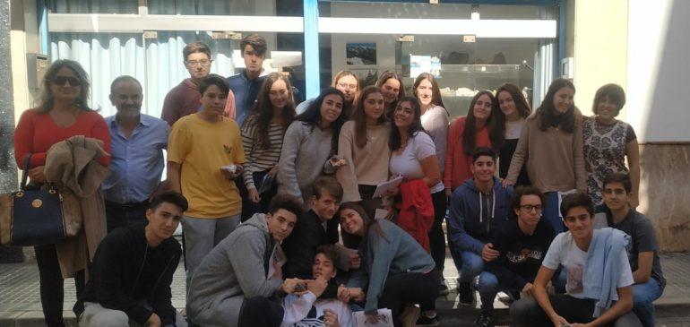 28 de Octubre 2019. Visita IES Cerrado de Calderón al Aula museo de geología Málaga