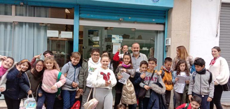 7 de Febrero 2020. Visita escolares 4ºPrimaria Colegio Paulo Freire al Aula museo de geología Málaga