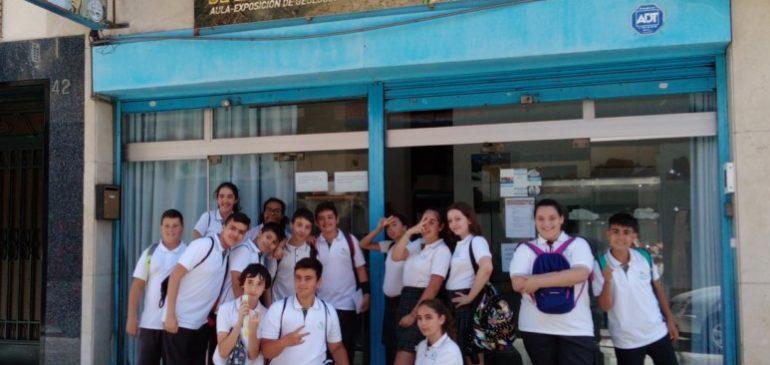 31 de Mayo 2019. Visita escolares 1ºESO Colegio Espiritu Santo al Aula museo de geología Málaga