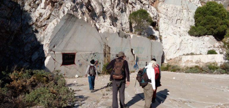 15 de Diciembre 2019. Ruta geológica cantera el Barrio-Muñequeras (Mijas). Aula museo de geologia