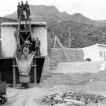 Malacate y castillete del pozo san juan finales años 40 al 50