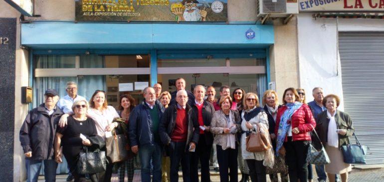 19 de Octubre 2018. Visita Asociación Orden de Caballeros Santa Bárbara de la Unión (Murcia) al Aula museo de geologia Málaga.