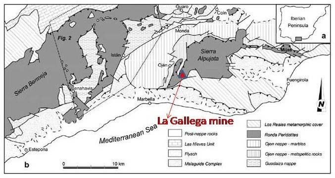 Las peridotitas de Sierra Alpujata y la mina la Gallega de Ojén