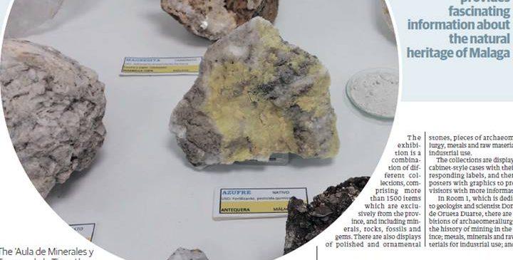 16 de Febrero 2017. Minerales y Tesoros de la Tierra . Aula museo de Geología in progress